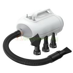 Фен компрессор для сушки собак и кошек двухмоторный / 3 насадки в комплекте, 350..