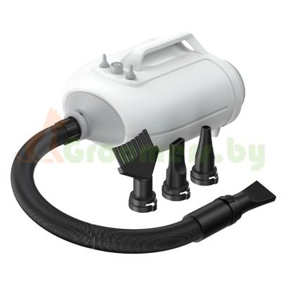 Фен компрессор для сушки собак и кошек двухмоторный / 3 насадки в комплекте, 3500 Вт, Chaolun CL-MP