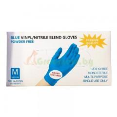 Перчатки нитриловые, Wally Plastic, голубые, размер M, L, XL 50 пар