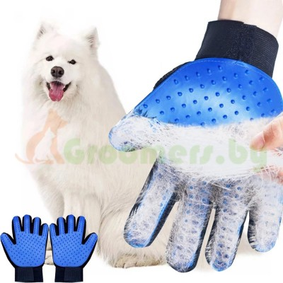 Перчатка-щетка для расчесывания шерсти домашних животных