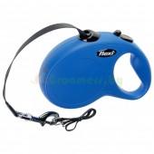 Поводок-рулетка Flexi New Classic L 5m 50 kg ремень синий