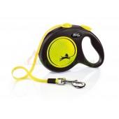 Поводок-рулетка для собак Flexi New Neon L ремень, цвет желтый