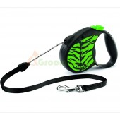 Поводок-рулетка для собак Flexi Safari Tiger M, зеленая