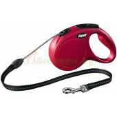 Рулетка-поводок для собак Flexi New Classic M 5 м трос красный