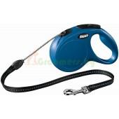 Рулетка-поводок для собак Flexi New Classic M 5 м трос синий
