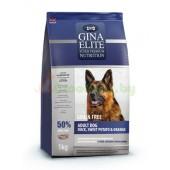 GINA Elite Grain Free Dog Duck,Sweet Potato,Orange беззерновой корм для собак с Уткой, Сладким картофелем и Апельсином (NEW)