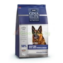 GINA Elite Grain Free Dog Duck,Sweet Potato,Orange беззерновой корм для собак с ..