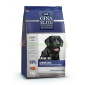 GINA Elite Grain Free Senior Dog Trout,Salmon,Sweet Potato,Asparagus корм для пожилых собак с Форелью, Лососем и Аспарагусом