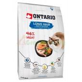 ONTARIO корм для длинношерстных кошек с уткой и лососем (Ontario Cat Longhair)