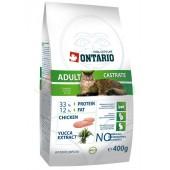 ONTARIO корм для кастрированных кошек (Adult Castrate)