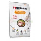 ONTARIO корм для короткошерстных кошек с курицей и уткой (Ontario Cat Shorthair)