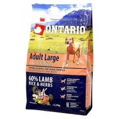 ONTARIO корм для собак крупных пород с ягненком, индейкой и рисом (Adult Large L..