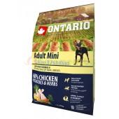 ONTARIO корм для собак малых пород с курицей и картофелем (Adult Mini Chicken & Potatoes)