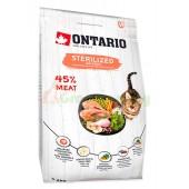 ONTARIO корм для стерилизованных кошек с лососем (Ontario Cat Sterilised Salmon)