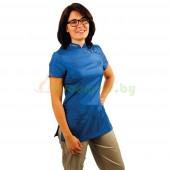 Рубашка с коротким рукавом Tikima Elba синяя, размер XL